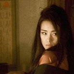 Gotta love that face--seduction, hate, and envy. Gong Li shown in character as 'Hatsumomo' in Memoirs of a Geisha.