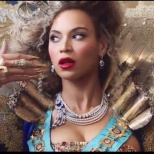 """I had a brilliant idea to sit through many of Beyonce's video's and capture """"stills"""" from some of my favorite expressions. This is from the 'Bow Down' video. Love this shot!"""